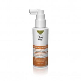 Oliveway hårspray der beskytter mod sol og slidte spidser