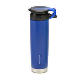 WOW Sports bottle BLUE 650ml stainless steel