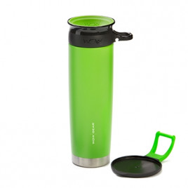 WOW Sports bottle GREEN 650ml stainless steel