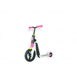 Scoot and Ride Highwayfreak, hvid/lyserød/gul